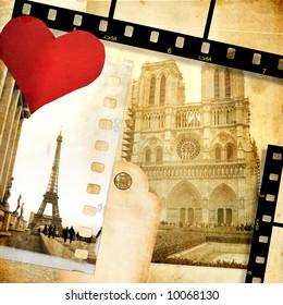 Love Paris - vintage photo-album