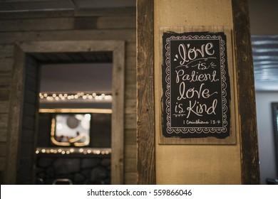 Love is Patient Wooden Decorative Sign