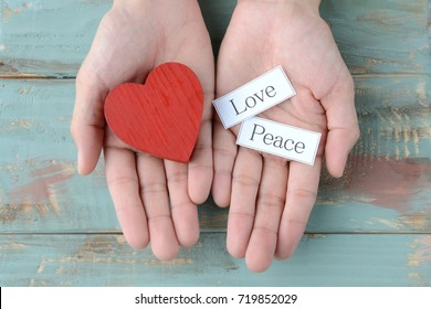 Love and peace concepts