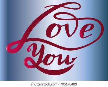 love, postcard , lettering, illustration, romantic holiday, valentines day, symbol love