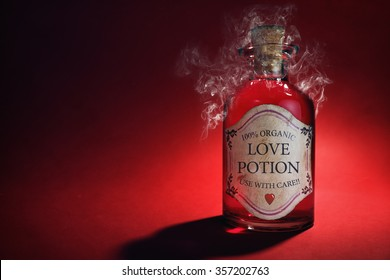 Love potion bottle, concept for dating, romance and valentine's day