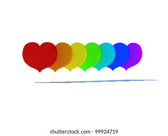 Love in the rainbow, front view