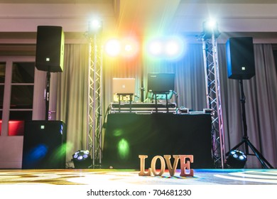 Love sign on the dance floor