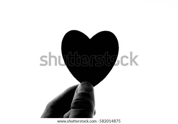A love silhouette on white background