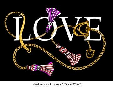 love slogan print