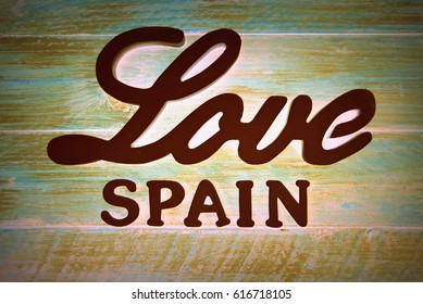 Love Spain, Art with letters