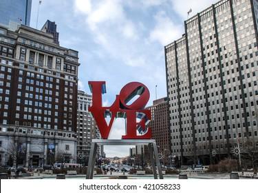Love Statue, Philadelphia, Pennsylvania, USA