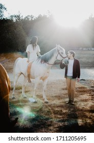 love story photoshoot with horses