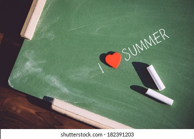 I love summer phrase handwritten
