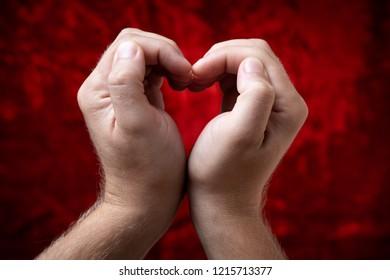 love symbol in hands