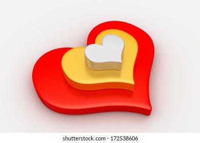 Love symbol, valentine concept