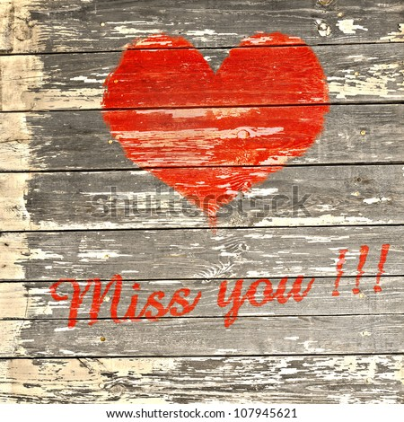 Love Symbol Word Miss You On Stock Photo Edit Now 107945621