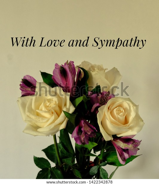 Love Sympathy Card Message On Pale Stock Photo Edit Now 1422342878