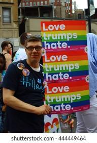 Love Trumps Hate - June 2016 Pride Parade, Chicago IL