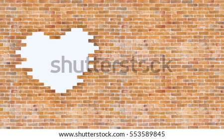 Love Valentines Day Brick Wall Background Stock Photo Edit Now