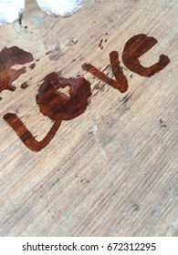 Love, wood table, vintage, water, art