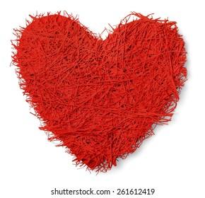 Love, yarn, heart.