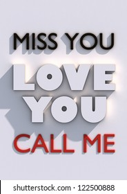 Love You 3D Poster