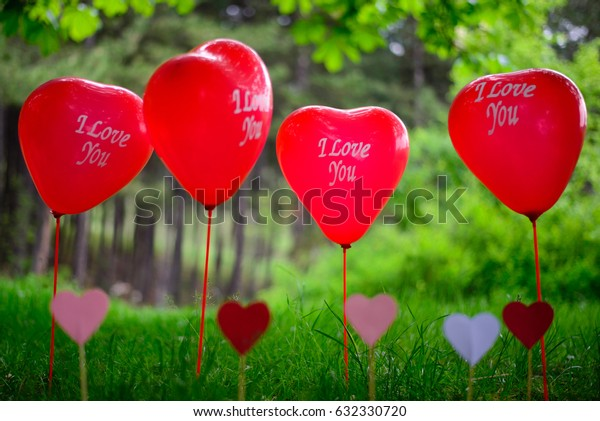 I love you balloon and heart
