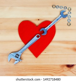 Love for your man - DIY valentines & hearts concept - or love for home improvemant, industry and working!