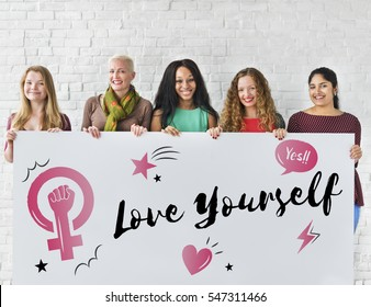 Love Yourself female campaign Concept