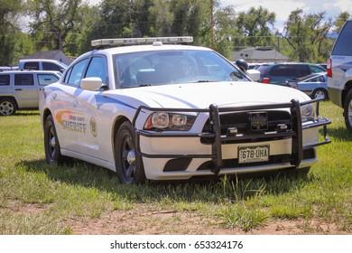 Loveland, Colorado - June 3, 2017: Larimer County Sheriff's vehicle