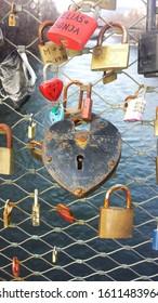 Lovelocks and the Mur river in Graz Austria