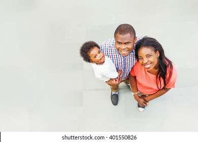 lovely african family - top view