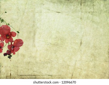 lovely background image with floral elements and plenty of space for text