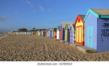 Lovely Bathing Boxes in Australia Melbourne Brighton Beach