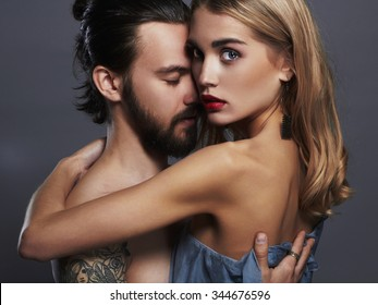 lovely beautiful couple.sexy woman and handsome man.boy and girl