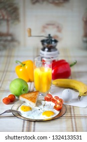 A lovely Breakfast awaits you in the morning. Freshness of products causes appetite after a sound sleep, and a glass of fresh juice will give strength in the coming working day.