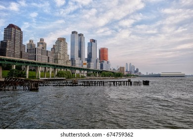 Lovely cityscape and the Hudson river in New York