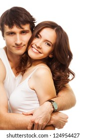 Lovely couple with beautiful young adult woman with big smiling