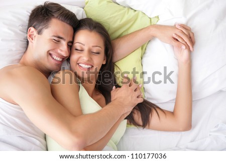 Lovely Couple Hugging On Their Bed Stock Photo Edit Now 60 Magnificent Lovely Couple Com