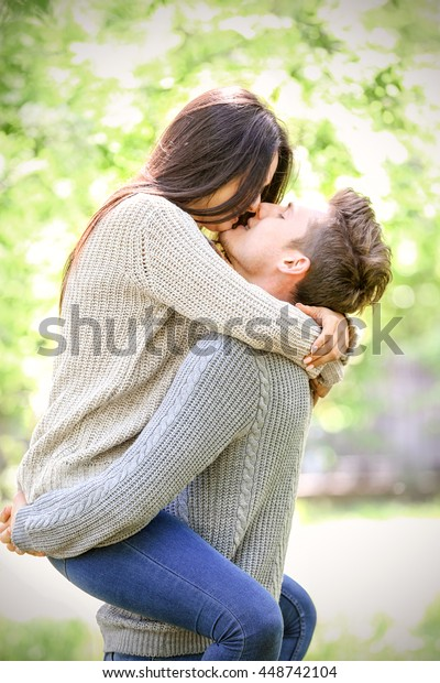 Lovely Couple Park Stock Photo Edit Now 448742104