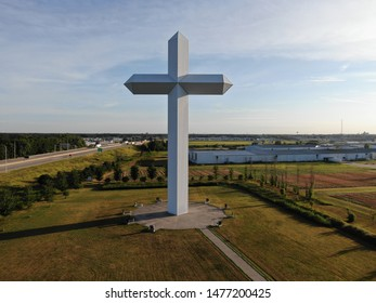 Lovely cross right off the highway