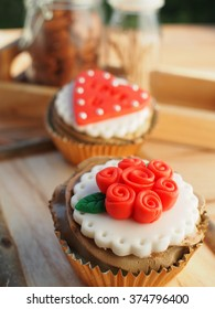 lovely cup cake in valentine's day