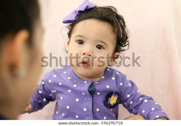Lovely Cute Baby Looking Her Lovely Stock Photo (Edit Now
