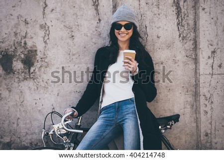 ac71a141a Lovely Day Beautiful Young Woman Sunglasses Stock Photo (Edit Now ...