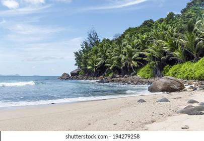 lovely deserted beach, Silhouette island, Seychelles
