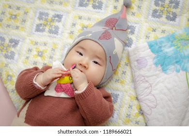 The lovely face of a Korean baby