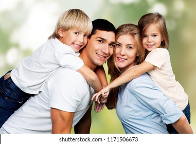 Lovely family in park  outdoor