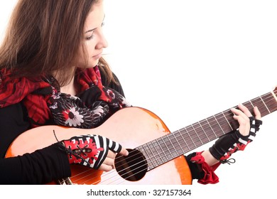 Lovely girl with guitar