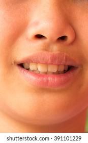 lovely girl  smile. Teeth whitening. Dental care.