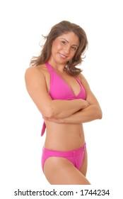 lovely girl in a swimsuit