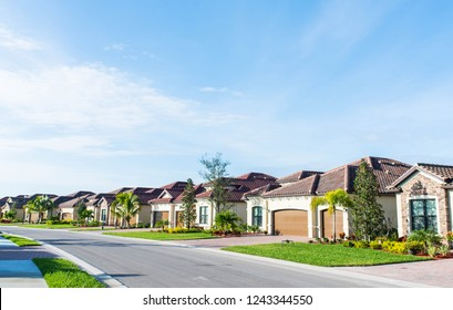 Lovely golf community and residential neighborhood outside of Fort Meyers, Florida.