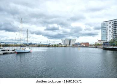A lovely harbor in Belfast