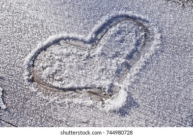 Lovely heart on the snow