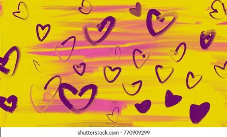 lovely heart pattern